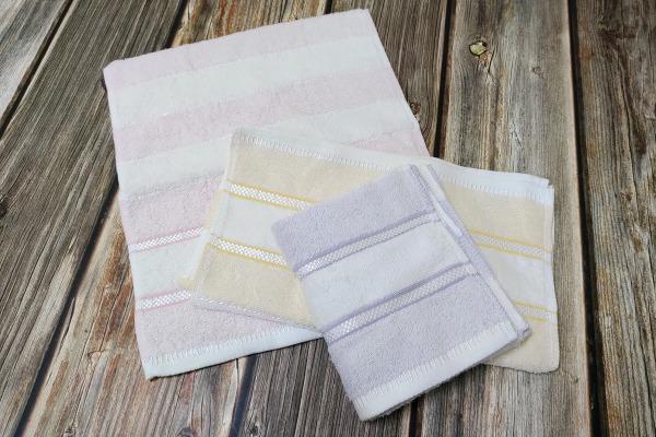 來福牌復古色緞毛巾